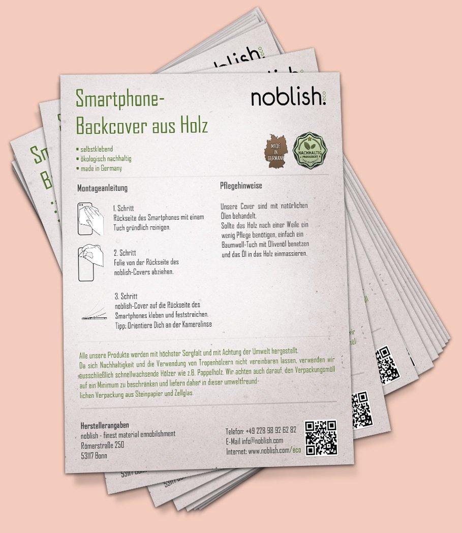 Stapel Steinpapier Infoblätter